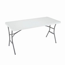 Camping table fold in half